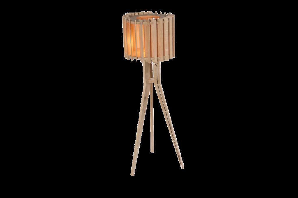 Lamel lamp staand met Edison lamp