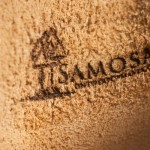 Logo Samosa in Leer gegraveerd