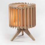 Lamel lamp, eiken in combinatie met indirect licht zorgt voor een prachtig resultaat