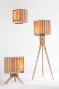 Lamel lampen indirect sfeervol licht. Volledig van eiken.