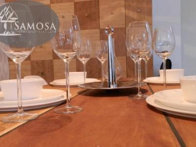 Gedekte Samosa tafel in Kookstudio Sjefkok