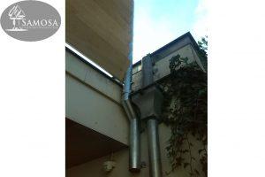 windscherm terrasafscheiding eiken gegalvaniseerd staal 3