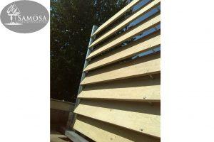 windscherm terrasafscheiding eiken gegalvaniseerd staal 4