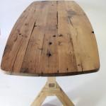 oud eiken tafelblad met Oversteek onderstel