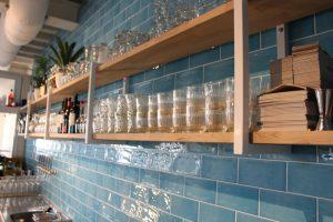 glaswerk planken van eiken
