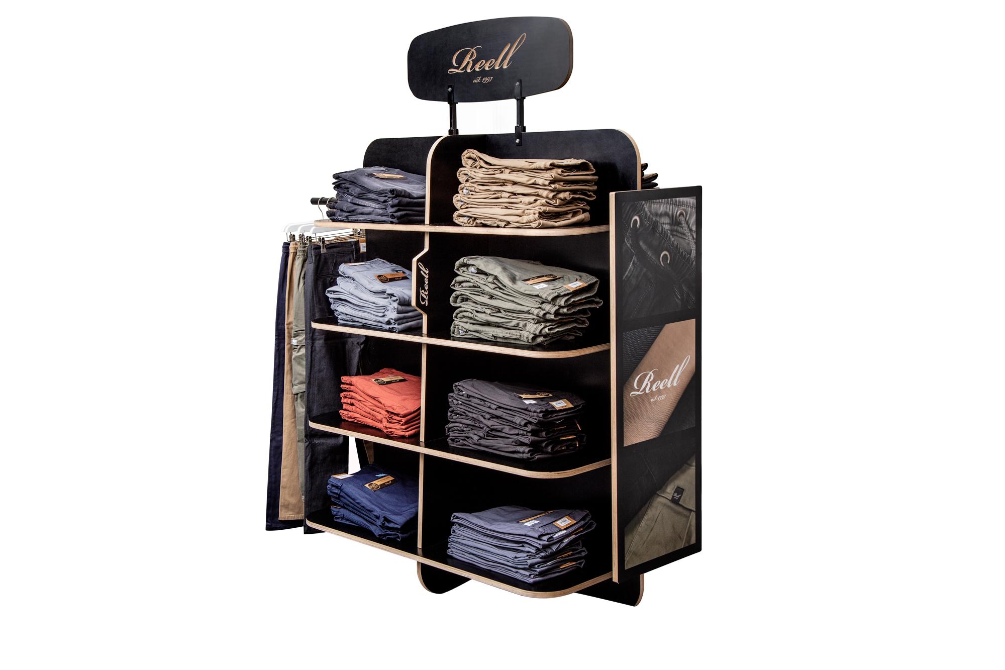 kleine winkel kleding display